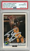 Shaquille O'neal Signed Autographed 1992 Classic Promo Nscc Rookie Card Rare Psa