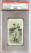 R.t. Bobby Jones 1927 Bat Who's Who In Sports 1926 2 Psa 4 Vg-ex Rc Rookie