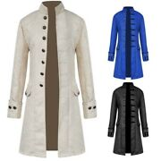 Menand039s Coat Steampunk Vintage Tailcoat Jacket Gothic Victorian Frock Coat Costume