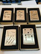 Zippo Windproof Collectible High Polish Chrome Lighters Paloma Set Of 5 1995 New