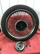 American Indian Motorcycle Warrior Scout Chief Vertical Twin Rear Wheel Complete