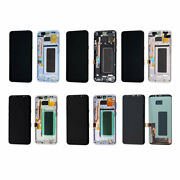 For Samsung Galaxy S7 Edge S8 S9 Note 8 9 10 Plus Oled Display Lcd Screen+frame