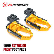 For Suzuki V-strom Dl250 17-19 18 Cnc 40mm Extended Front Touring Foot Pegs -mc