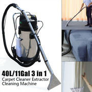 40l Portable Carpet Cleaning Machine Vacuum Cleaner Extractor Dust Collector New