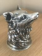 Fabulous Vintage Silver Russian Fox Headed Novelty Stirrup Cup