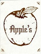 Apple's Lunch And Dinner Menus 1983 Holiday Inn Nashville Tennessee
