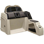 Pontoon Boat Steering Console 180695-01   38 1/2 Inch Fiberglass Taupe