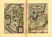Large A1 Size Holstein Germany Prussia Berlin Old Antique 2 Maps Reproduction