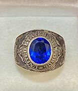 1947 United States Air Force Ring Sterling Silver W Blue Stone 5k Apr W/coa}