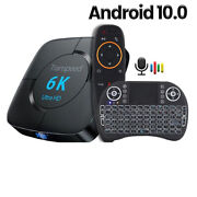 6k Hd Android Tv Box Voice Assistant 4gb Ram 32g 64g 2.4g 5.8g Wifi Media Player