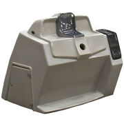 Pontoon Boat Steering Console   40 1/2 X 45 1/2 Inch Gray Scuffs
