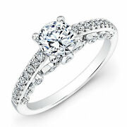 Solid 14k Gold New Diamond Engagement Rings For Women 0.74 Carat Size 5 6 7 8 9
