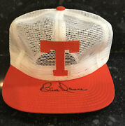 Bill Dance Autographed Signed Tennessee Vols Mesh Cap Orange / White New
