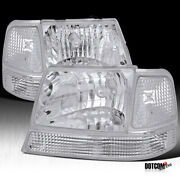 Fit Euro 1998-2000 Ford Ranger Head Lights Corner Bumper Lamps Clear