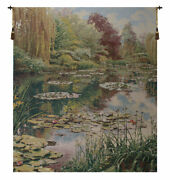 Monetand039s Garden Without Border Belgian Tapestry - Wall Art Hanging - 68x82 Inch