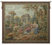 Repos Fontaine Rest Fountain Ii French Tapestry - Wall Art Hanging - 63x73 Inch