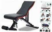 Weight Bench, Adjustable Strength Training Benches For Full Body Black-red