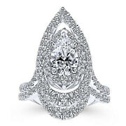 Classic Solid 14k White Gold 1.40 Ct Real Diamond Engagement Rings Sizes 8 6 5 7