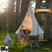 Large Hammock Outdoor Hanging Cocoon Chair Swinging Tp Tree Patio Sofa Natural.
