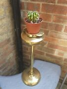 Antique Ornate Brass Free Standing Ash Tray/ Plant Planter Stand
