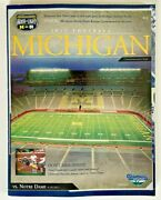 2011 Notre Dame Vs Michigan Football First Ever Under The Lights Game Program