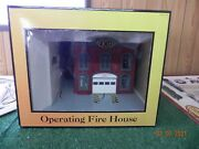 Railking O-scale 2 Story Operating Illuminated Firhouse W/red Fire Truck W/box