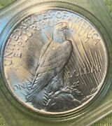 1923 Peace Dollar Au About Uncirculated In Capsule Very Nice Coin