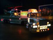 Hess Oil And Chemical Corporation Illuminated Toy Truck And Helicopter With Box 1995