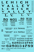 K4 G 124 Decals Lehigh Valley Two Bay Covered Hopper Black