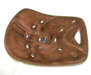 Backjoy Core Portable Orthotic Pelvic Back Support For Chair Or Car Seat Brown