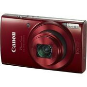 Canon Powershot Elph 190 Is Digital Camera Red With 10x Optical Zoom And