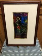 """Cece Tucker Art Signed Wood Frame 10.5"""" X 14.5"""" Overall Easton, Pa Cecile M."""