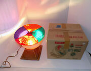 Vintage Rotating Color Wheel Light For Aluminum Christmas Tree Works See Demo