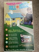 Vintage Brumberger Wooden Doll House With Furniture No. 770 - Sealed - Htf