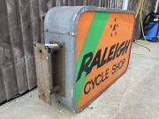 Vintage Rayleigh Bike Illuminated Shop Sign Cycle Shop Retro Moulton Bicycle