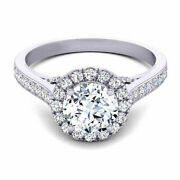 Round Cut 1.50 Ct Moissanite Engagement Womenand039s Ring 14k White Gold Size 6 7 8 9
