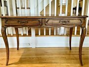Vintage French Country Provincial Louis Xv Style Writing Desk