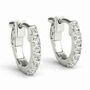 1.40 Carat Round Cut Natural Diamond Studs 14k Solid White Gold Classic Earrings