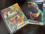 1973 World Series Program Oakland A's Ny Mets And 1972 Sports Illustrated Vintage