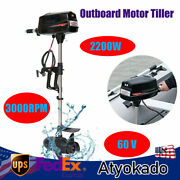 3000rpm Outboard Motor Tiller Control Boat Engine For Inflatable Boats Canoes