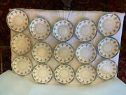 Antique Minton Persian Rose Lot 15 Lunch Plates 9andrdquo Made In England Mintons