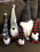 Pottery Barn Holiday Christmas Gnomes Set Of 5. Clarke Gnome Large Gnome Objects
