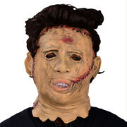 Texas Chainsaw Massacre Halloween Cosplay Scary Movie Latex Leatherface Mask