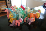 1983-1984 G1 My Little Pony Lot Of 10 Vintage Ponies 2 Minis