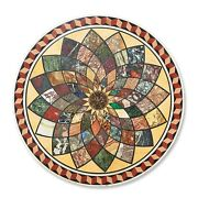 36 Marble Coffee Round Table Handmade Inlay Work Marquetry Home Decor