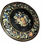 36 Black Coffee Table Top Inlaid Pietra Dura Work For Home Decor And Gifts