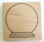The Artful Stamper - Snow Globe - 823p - Wood Mounted Rubber Stamp