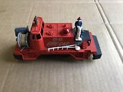 2 Lionel 52 Fire Car From 1958, Runs Great, Bumpers Reverse Direction.1 Parts.