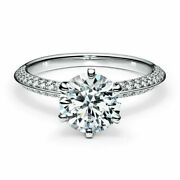 1.75 Ct Natural Diamond Engagement Womens Ring Solid 14k White Gold Band Size 7