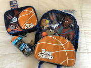 Space Jam Tune Squad School Backpack, Lunch Box Bag And Water Bottle Lebron